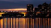 Nächtliches Panorama von Vancouver
