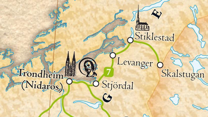 Der Schrein des Heiligen Olav im Nidarosdom zu Trondheim ist ein wichtiges Wallfahrtsziel Nordeuropas