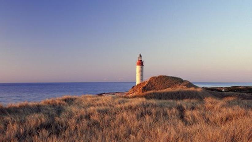 Der Leuchtturm auf der kleinen Insel Anholt