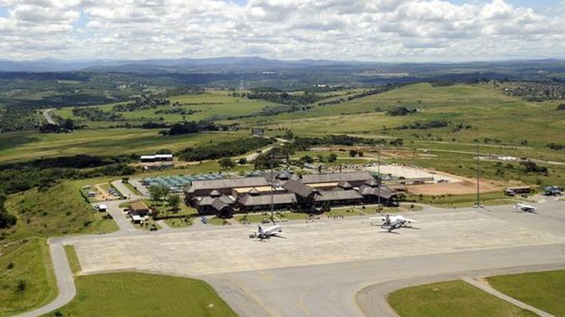 Der Flughafen von Nelspruit, einem der Austragungsorte