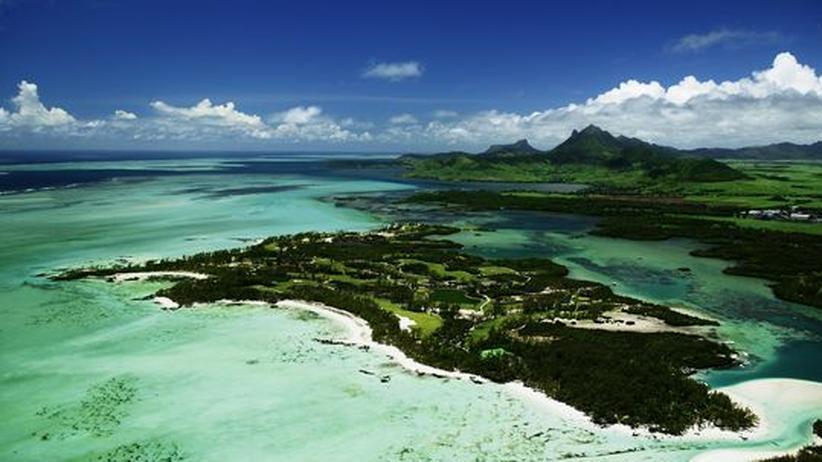 Die Ile Aux Cerfs an der Ostküste von Mauritius