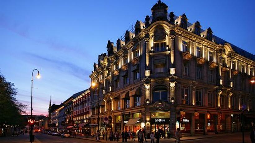 Die abendliche Karl Johans Straße
