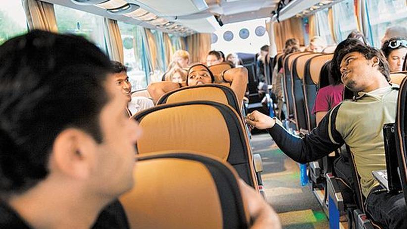 Unterwegs mit dem Business-Class-Bus nach Prag
