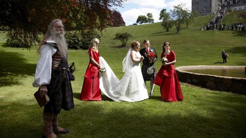 Schottische Hochzeit: Die Trauung durch den Chieftain ist nur symbolisch – aber wichtig