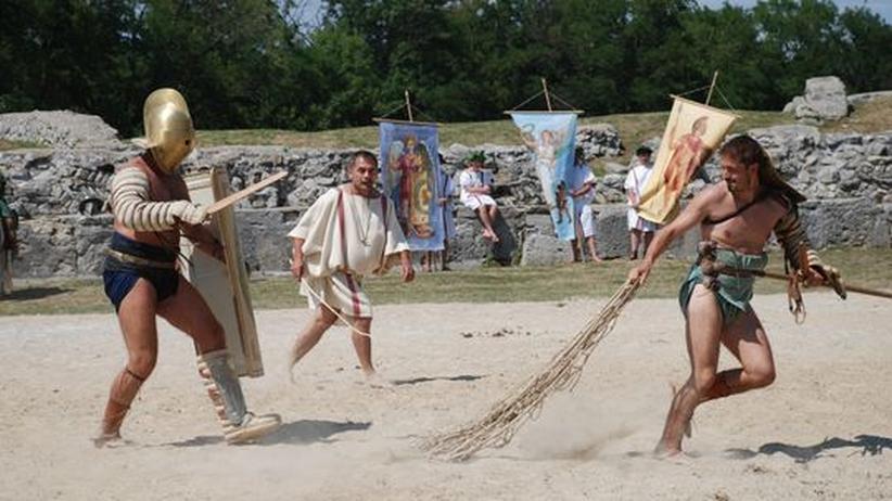 Gladiatoren-Camp: Experimentelle Archäologie, auch genannt: Nahkampf
