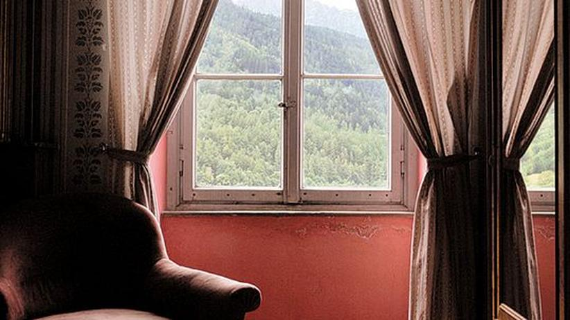 Der Ausblick aus einem der Gästezimmer des Bregaglia