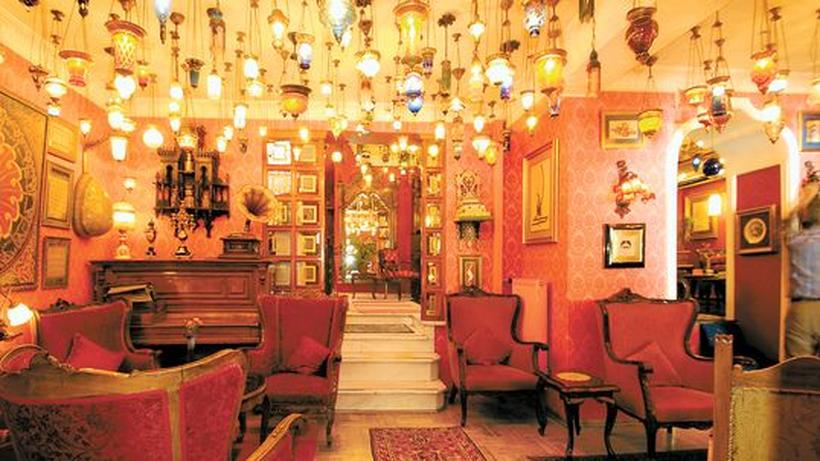 Die Lounge Des Kybele Hotels.