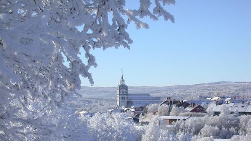 Blick auf das verschneite Røros