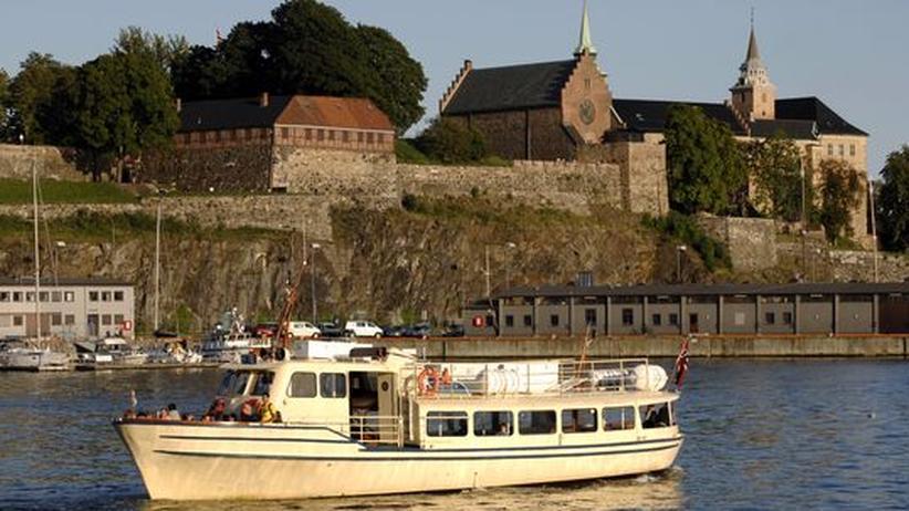 Die Festung Akershus an der Ostseite des Oslofjordes