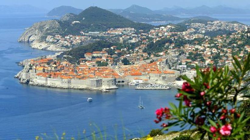 Der Ausblick auf die kroatische Stadt Dubrovnik