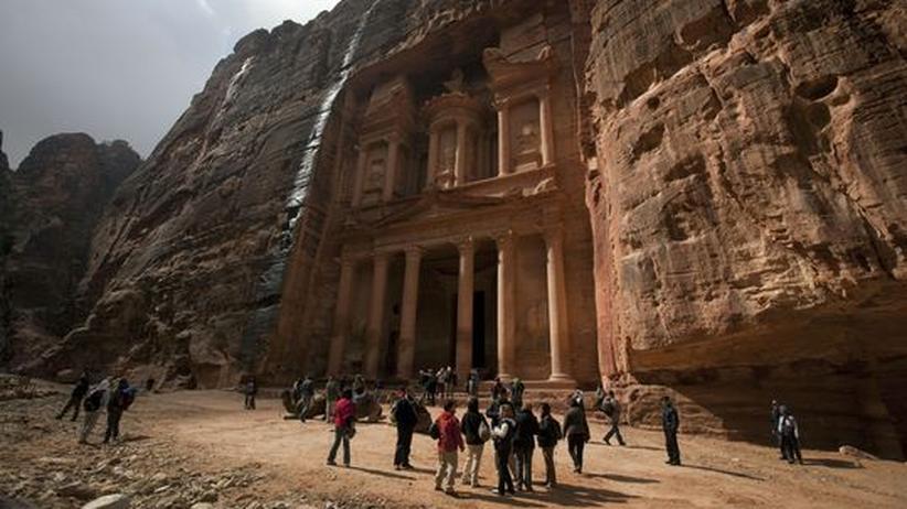 Das Felsgrab Khazne Firaun in der jordanischen Stadt Petra