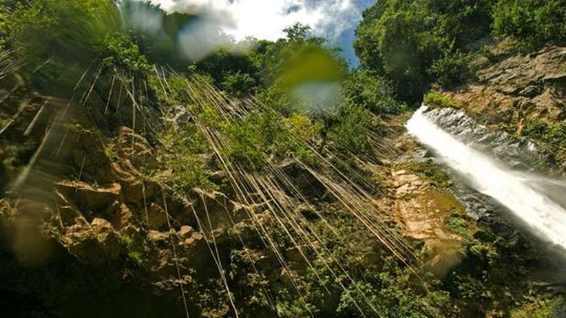 Die Victoria Falls auf Dominica