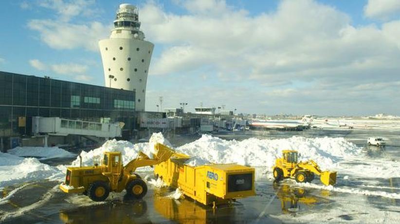USA: Schneesturm behindert amerikanischen Flugverkehr