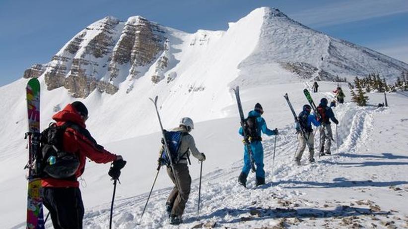 Skitourengeher: Hoppla, jetzt komm ich
