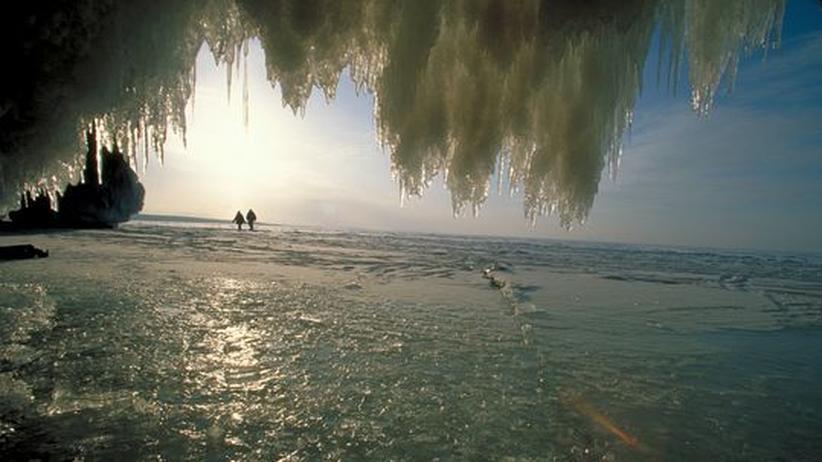 Lake Superior: Auf Amerikas größter Eislaufbahn