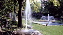 Einer der Springbrunnen in Longwood Gardens, Pennsylvania