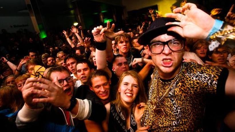 Partygänger beim Iceland Airwaves Festival in Reykjavik