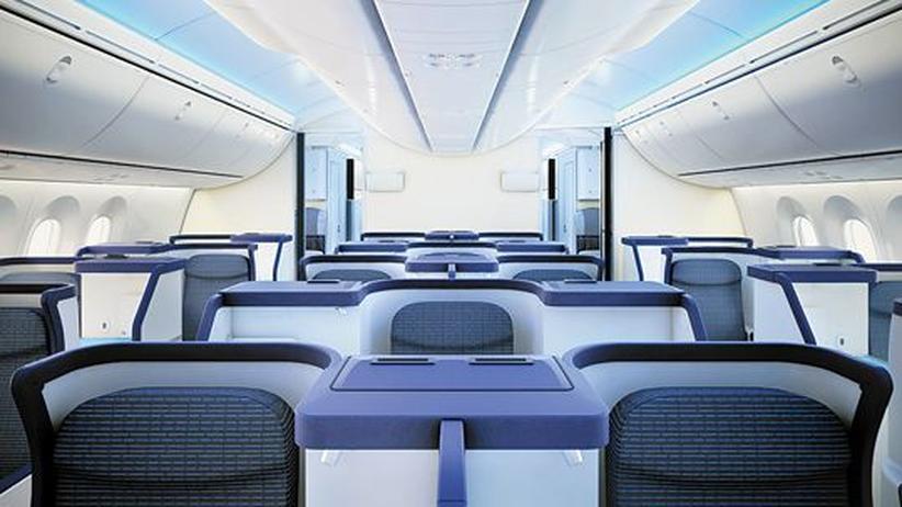 Die Kabine der neuen Boeing 787 für All Nippon Airways