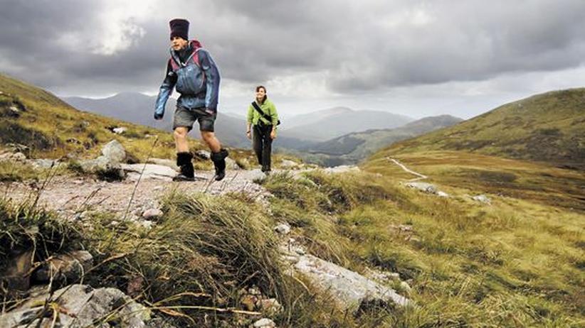 Aufstieg zum Ben Nevis in den schottischen Highlands