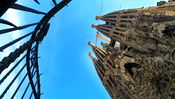 Barcelona, SPAIN:  A view of the front of Catalan architect Antoni Gaudi's unfinished cathedral La Sagrada Familia in Barcelona, 07 June 2006. Religious services will be able to take place in the nave by 2008, the construction committee said Wednesday.   AFP PHOTO/CESAR RANGEL  (Photo credit should read CESAR RANGEL/AFP/Getty Images)