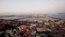 Blick von der Süleymaniye-Moschee auf die historische Halbinsel von Konstantinopel