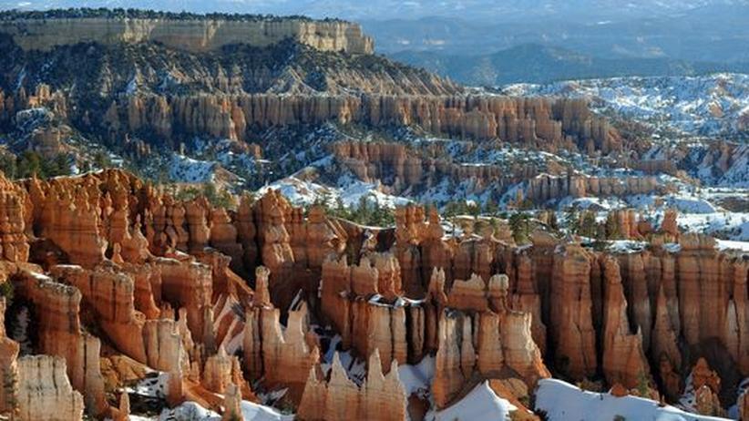 Utah: Einzigartige geologische Formationen: Die so genannten Hoodoos gibt es nur im Bryce Canyon Nationalpark in Utah.