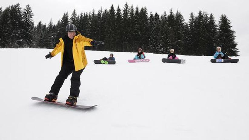 """Snowboarden: """"Gäht scho!"""""""