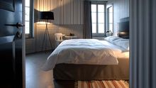 Lichtes Eckzimmer im Hotel Helvetia, ein bisschen Dandy-chic, ein bisschen rockig