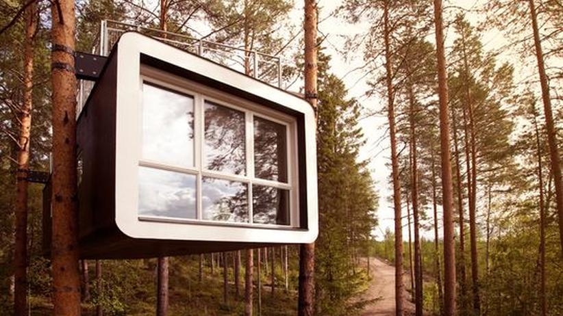 Schweden: Das Baumzimmer The Cabin ist Teil eines Luxushotels im schwedischen Wald.