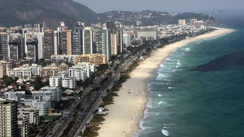 Der Stadtteil Barra da Tijuca liegt am Strand von Rio de Janeiro.