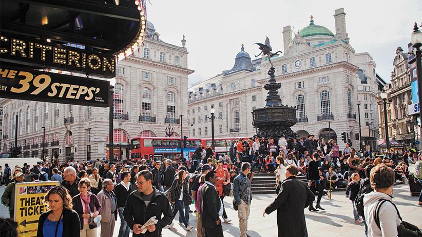 City Guide London: Am Piccadilly Circus ist das Warten ein Erlebnis