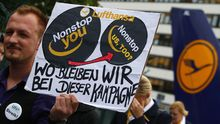 Streik der Flugbegleiter in Frankfurt