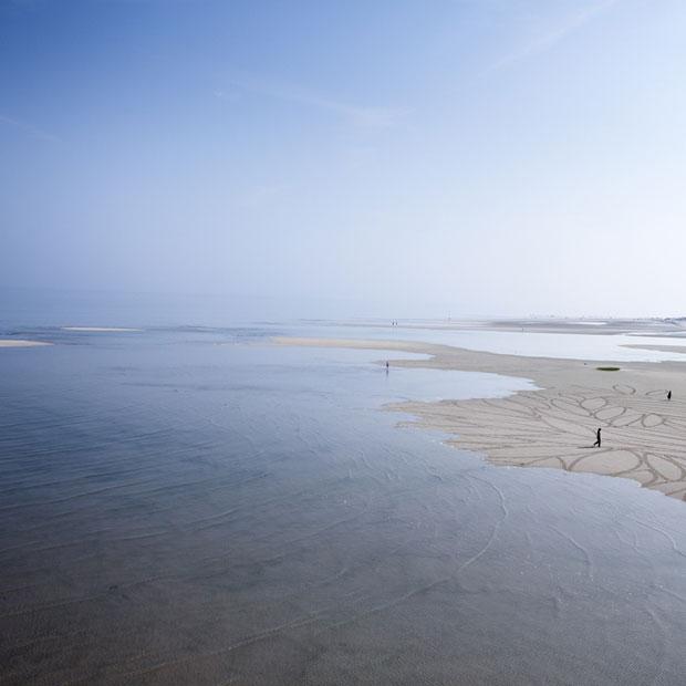 Sandzeichnungen von Jim Denevan, Massachusetts 2010