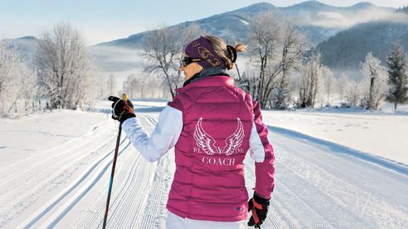 Kostenloser Skiunterricht : Nicht in die Knie gehen