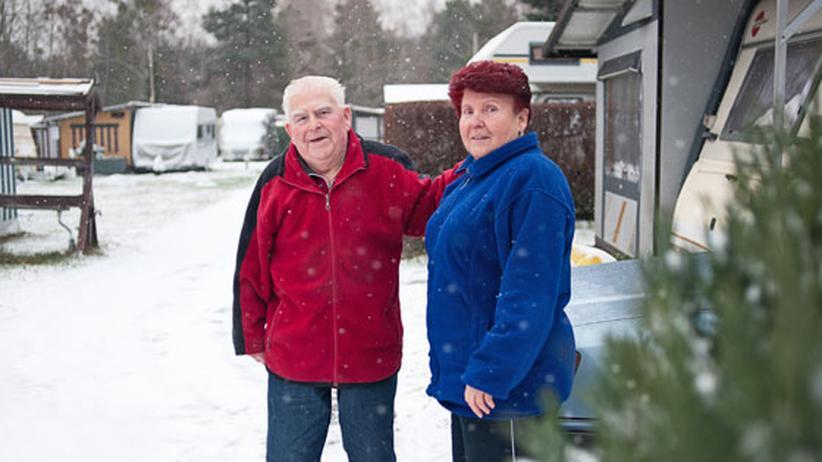 Seit 14 Wintern leben Hannelore und Heinz Gericke auf dem Campingplatz in Berlin-Kladow.