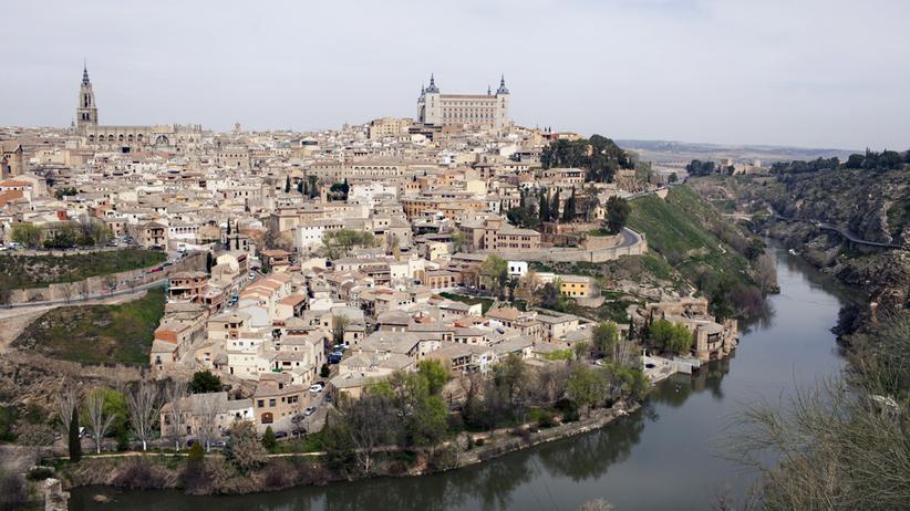 El Greco: Toledo, vom gegenüberliegenden Ufer des Tajo aus gesehen