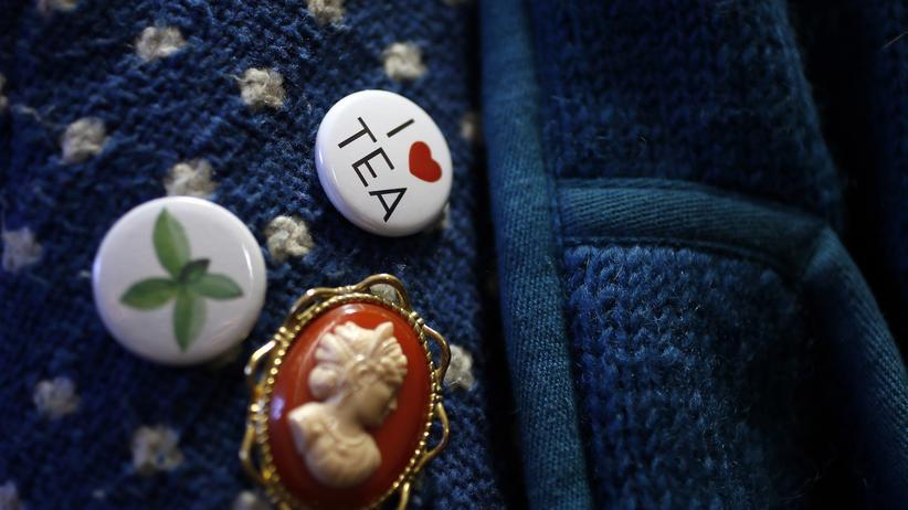 Buttons an einer Jacke in Tregothnan