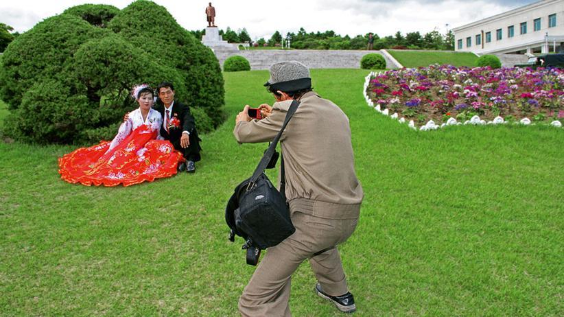 Fotos aus Nordkorea: Echte Menschen in künstlicher Kulisse