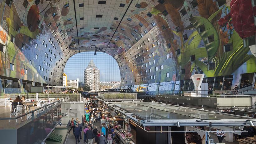Reisen, Markthalle Rotterdam, Architektur, Rotterdam, Gentrifizierung, Niederlande