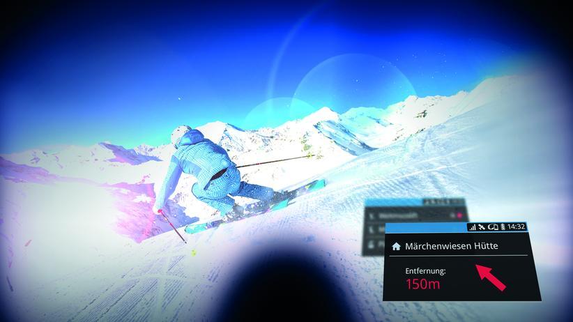Datenbrille: Reisen, Datenbrille, App, Ski, Smartphone