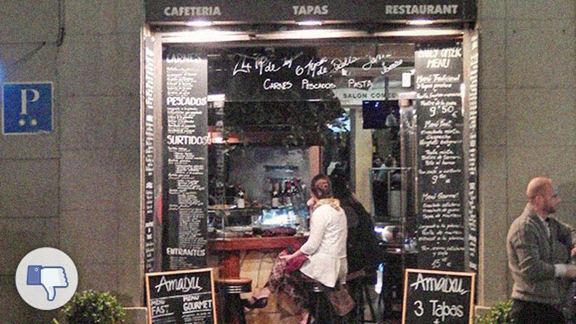 Reisen, La Rambla in Barcelona, Barcelona, Restaurant, Spanien, Städtereisen, Tourismus, Dessert, London