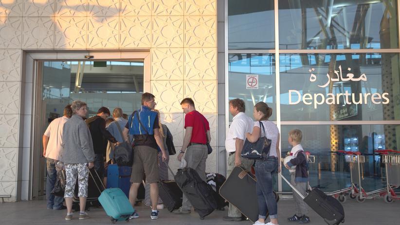 Touristen Tunesien Rückreise