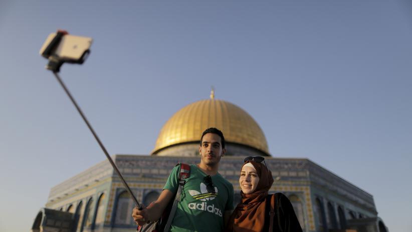 Jerusalem: Selfies vor dem Felsendom
