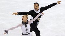 Vom Siegestraum blieb den Deutschen Bronze: Aljona Sawtschenko und Robin Szolkowy