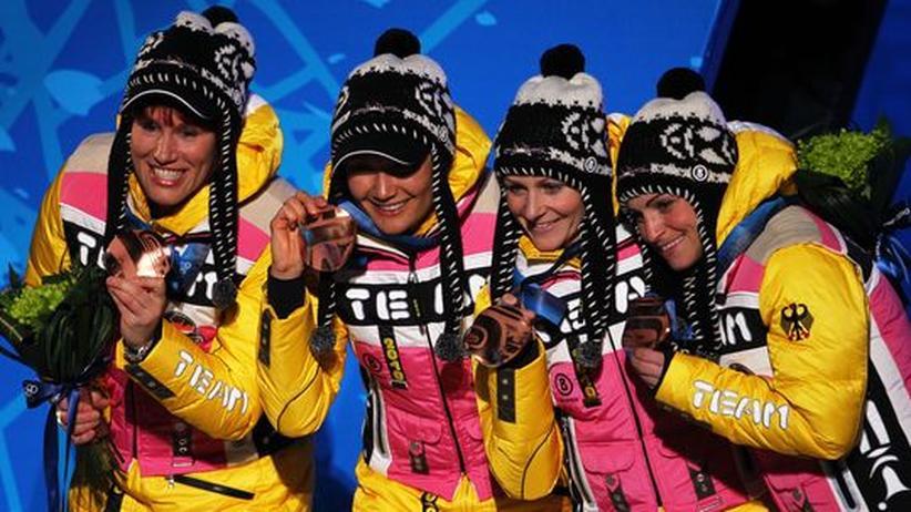 Olympische Winterspiele: Doppel-Bronze für deutsches Team
