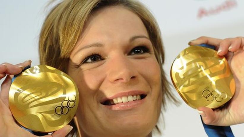 Olympische Winterspiele: Maria Riesch gewinnt zum zweiten Mal Gold