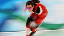VANCOUVER, BC - FEBRUARY 18: Shannon Rempel of Canada warms up before she competes in the women's speed skating 1000 m on day 7 of the Vancouver 2010 Winter Olympics at Richmond Olympic Oval on February 18, 2010 in Vancouver, Canada. (Photo by Cameron Spencer/Getty Images)