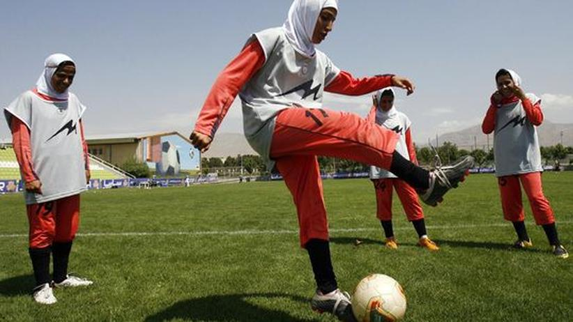 Dürfen nicht nach Singapur: Das iranische Frauen-Nationalteam