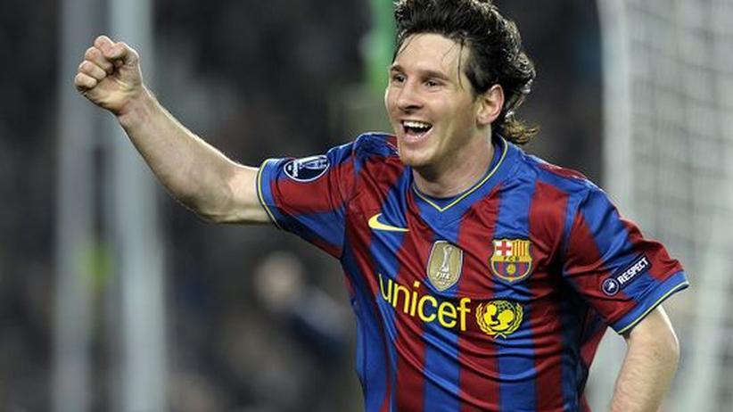 Kreativ in wenig kreativen Zeiten für Fußballer: Barcelonas Stürmer Lionel Messi