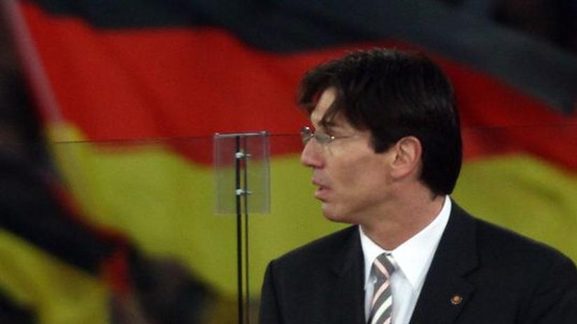 Eishockey-Bundestrainer Uwe Krupp im Spiel gegen die USA